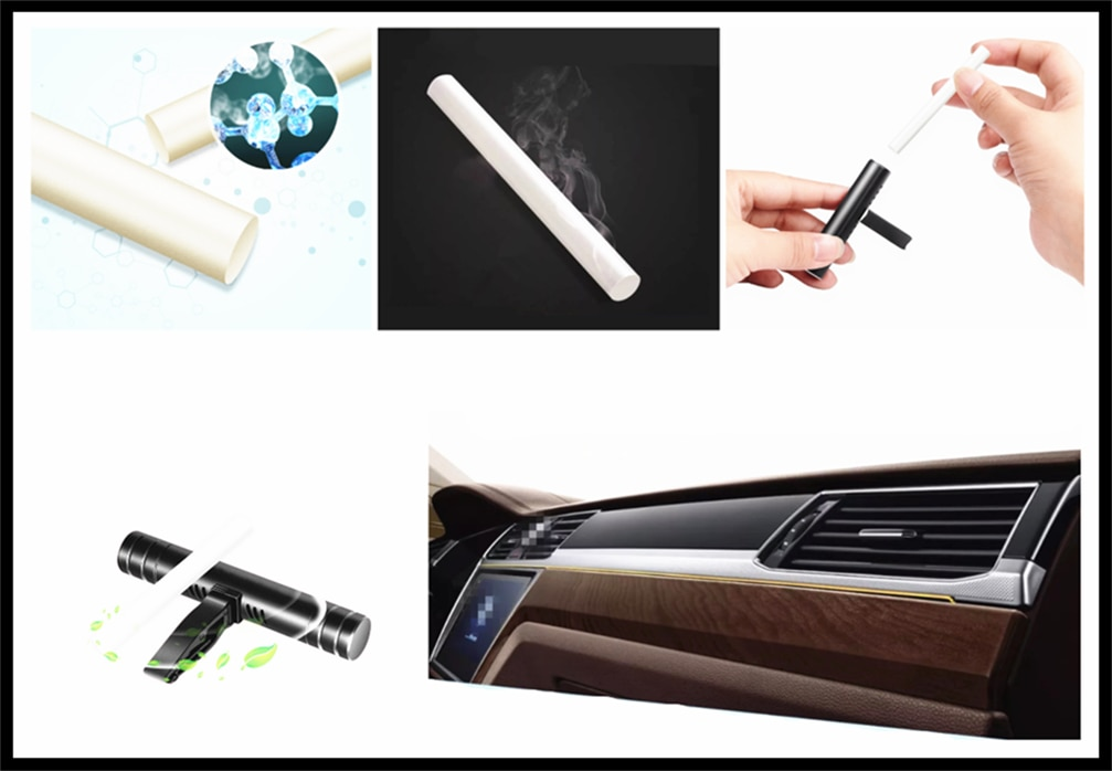 Mini coche aire exportación palillos de aromaterapia ambientador Perfume suplemento para VW polo Volkswagen passat b5 b6 CC golf jetta mk6
