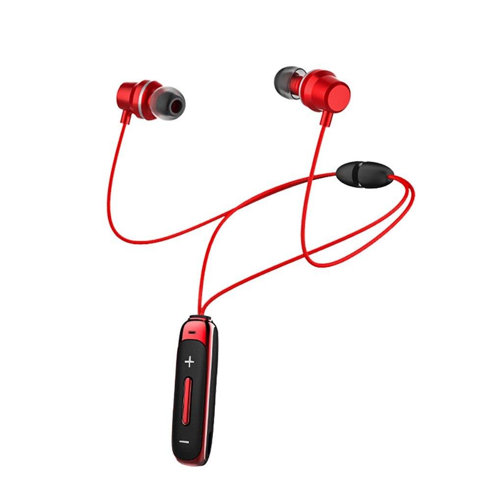 Auriculares Bluetooth en el oído, auriculares inalámbricos con micrófono, bajo, deporte, auricular magnético en el oído, auriculares para teléfonos móviles