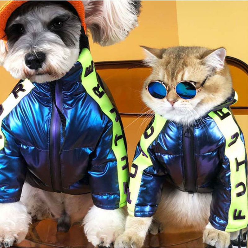 Pet Dog Down Jacket Small And Medium Dogs Warm Autumn Winter Thick Clothes Luxurious French Bulldog