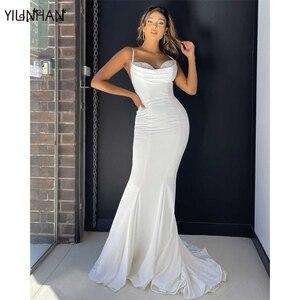 YILINHAN Ladies Dress Summer Sexy Slim Long Mermaid Dress Sleeveless Suspender Party Dress Long Skirt  Wedding Banquet Clothes