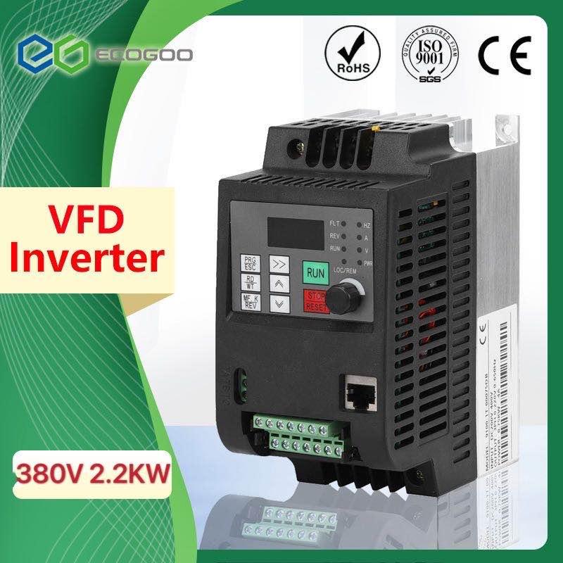 Saída ajustável do inversor 2.2kw ZW-CT1 3p 380v da velocidade vfd do conversor de frequência para o inversor wzw4 da baixa frequência do motor