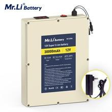 Batterie au lithium-ion Rechargeable MR.Li 12vV30Ah pour alimentation extérieure avec Protection de carte BMS et chargeur 5A