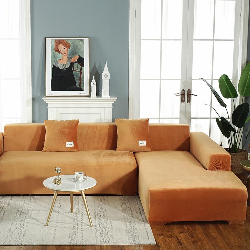 غطاء قابل للتمدد للأريكة والكرسي بذراعين 1-4 مقاعد ، لغرفة المعيشة ، لون عادي
