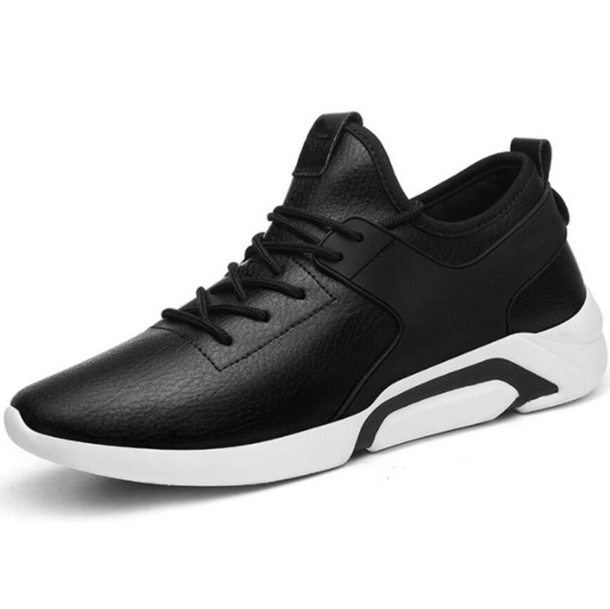2020 de alta qualidade preto couro dos homens sapatos esportivos da moda tênis apartamentos tenis masculino zapatillas blancas hombre cesta