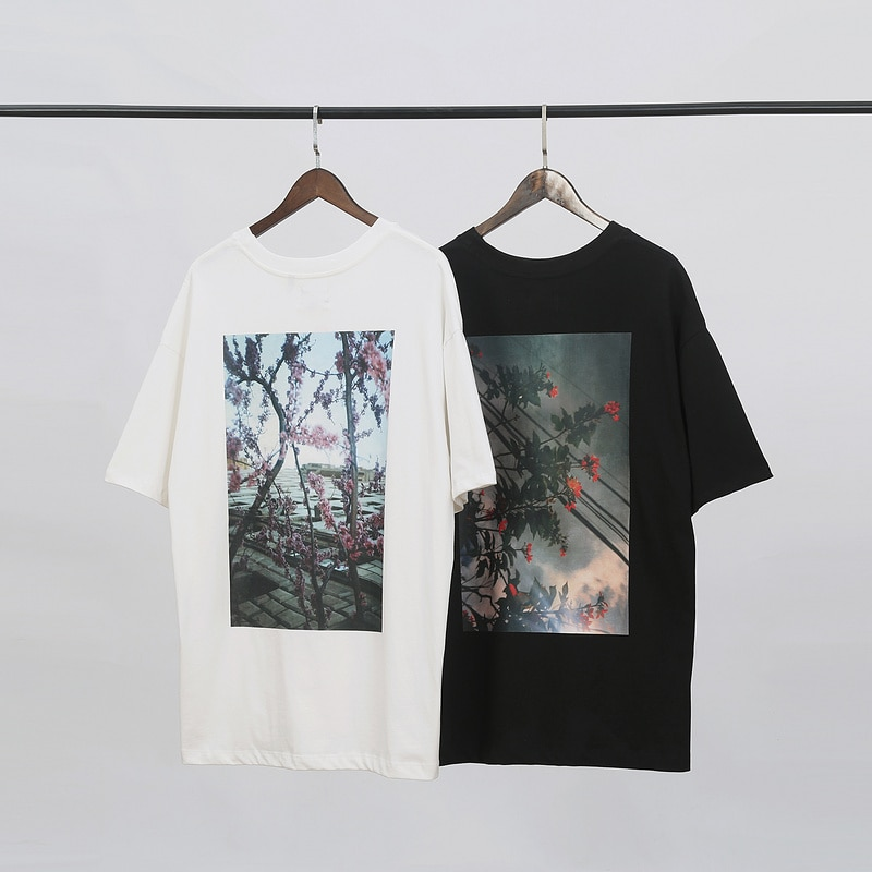 Oversized Tops Tees Men Women Flowers Printed 1:1 Best Quality Essentials T-Shirt Fog 100% Cotton T Shirts