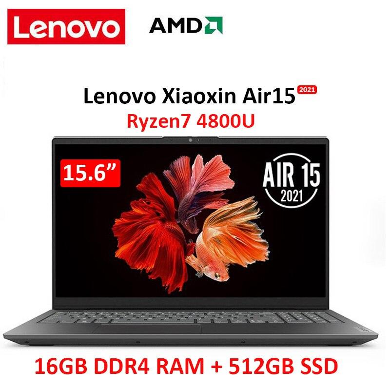 Promo lenovo air 15 laptop 2021 AMD  Ryzen7 4800U 16GB  RAM 512GB  SSD 15.6 Inch Win10 Notebook computer  IPS  screen Ultraslim laptop