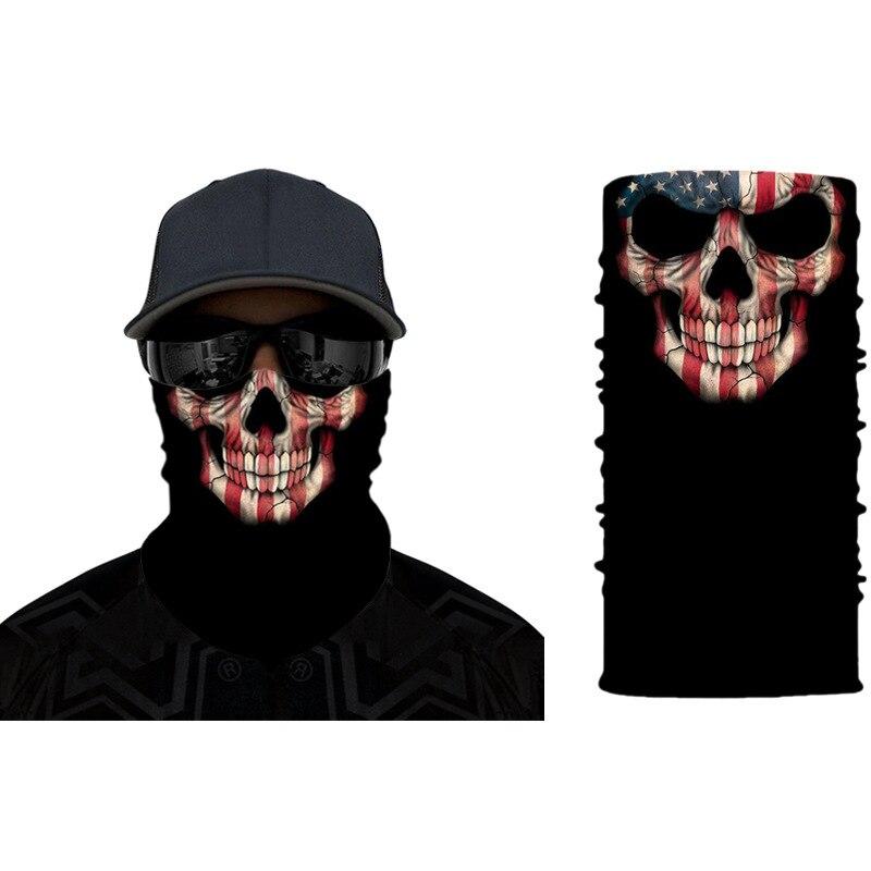 Skull Scarf Reusable Windproof Outdoor Sports Fashion Mouth Face Mask Sun Protective Mask Skull Bandana Face Mask