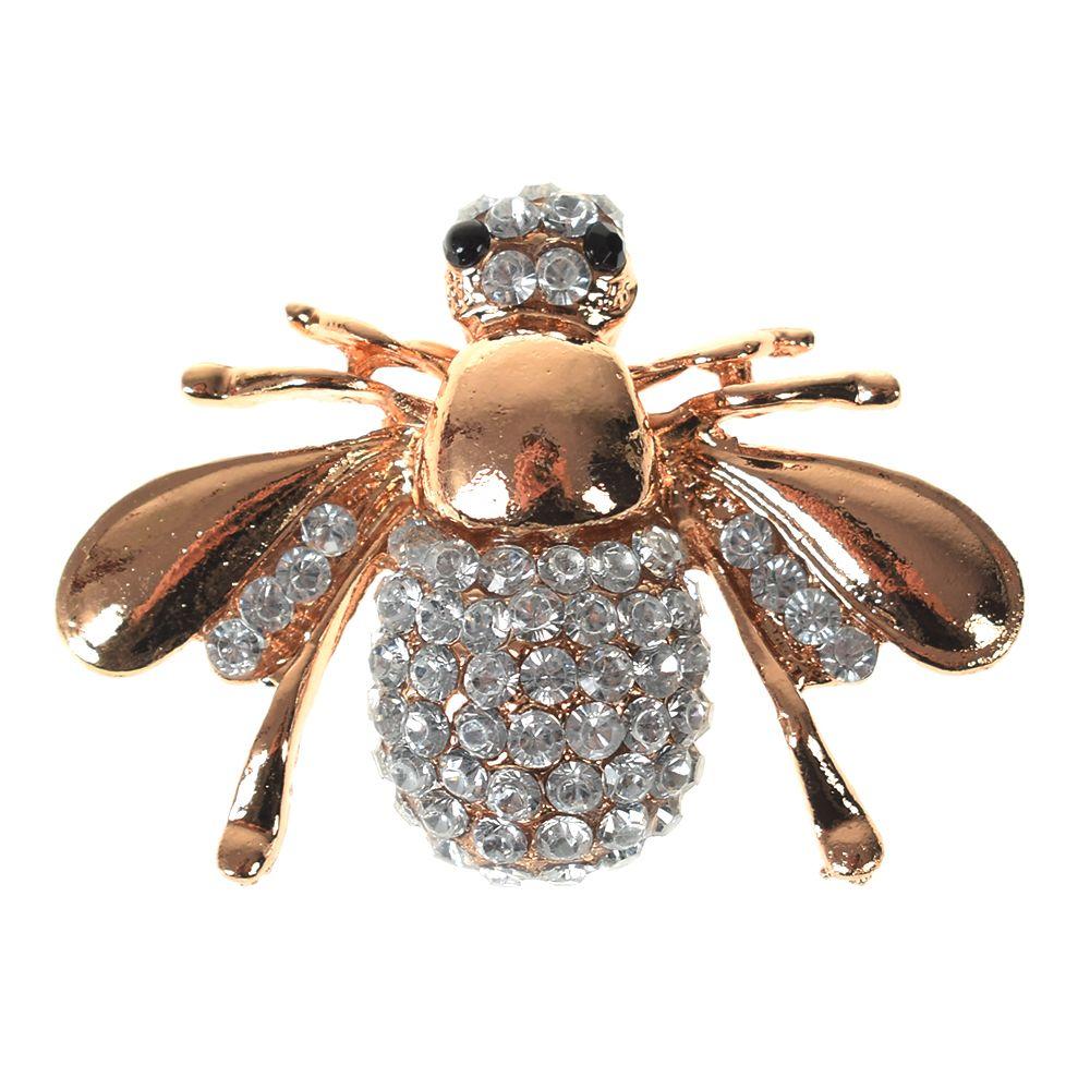 Oppohere bonito animal abelha broche pequeno pino cachecol decoração pescoço colar broches jóias para meninas feminino cristal strass pino