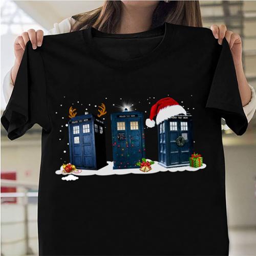 Doctor Who Tardis Polices Box Christmas Men T-Shirt Gifts