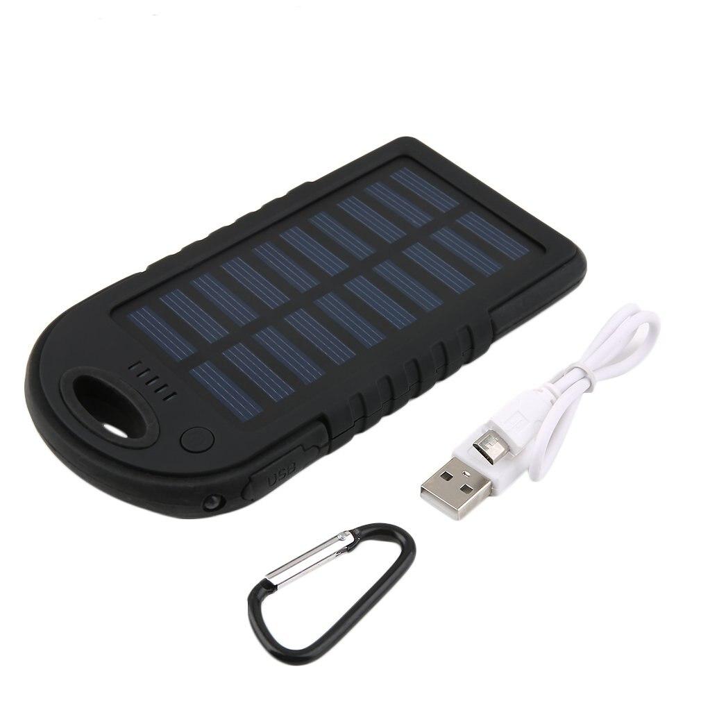 Batería Externa de emergencia Solar de 5000mAh con linterna LED, batería portátil para teléfono, resistente al agua, para móvil