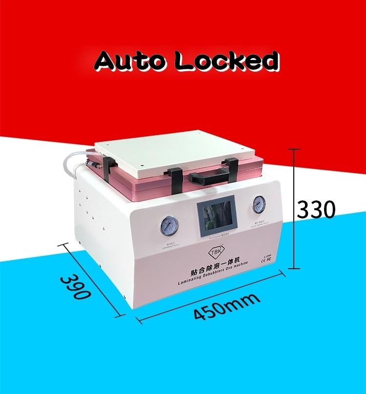 LY TBK 308A 15 pulgadas Reparación de pantalla táctil LCD automático máquina de eliminación de burbujas OCA Máquina De Laminación Al Vacío con bloqueo automático