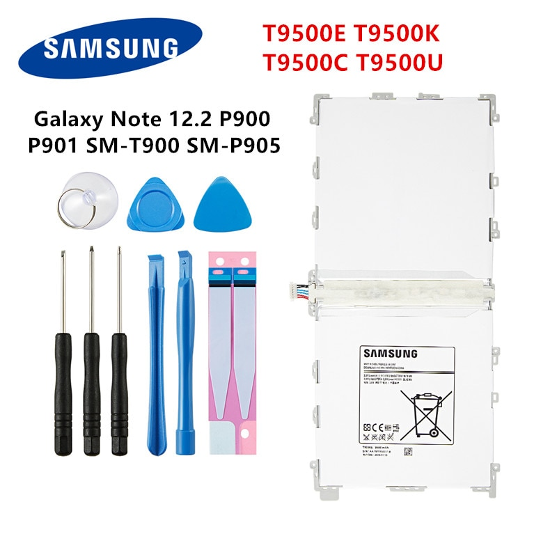 SAMSUNG original Tablet T9500E T9500K T9500C T9500U 9500mAh batería para Samsung Galaxy Note 12,2 P900 P901 P905 T900 P900 + herramientas