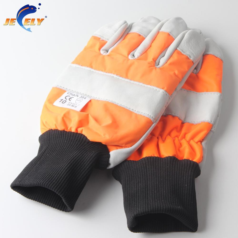 Holz industrie sicherheit leder kettensäge handschuh cut beständig 11 #-L Angeln Handschuh