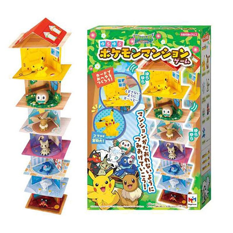 Takara Tomy Pikachu Eevee Vulpix Rowlet Mimikyu Litten Popplio Figure poupées jouet bricolage maison Pokemon Action Figure enfants cadeau