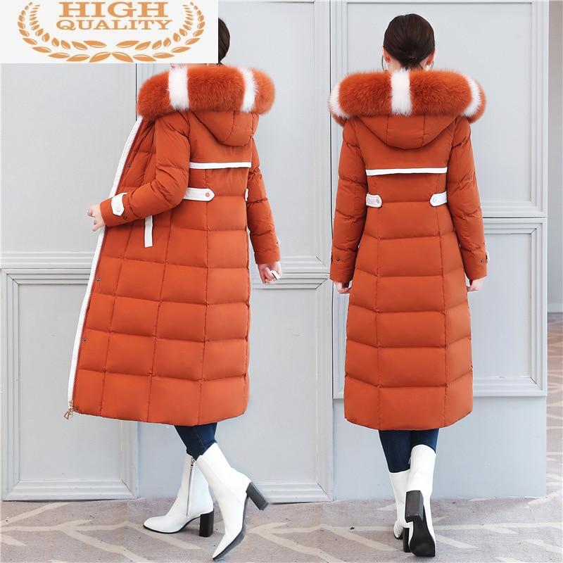 Chaqueta de Invierno para Mujer, chaquetas de pato cuello de piel de...