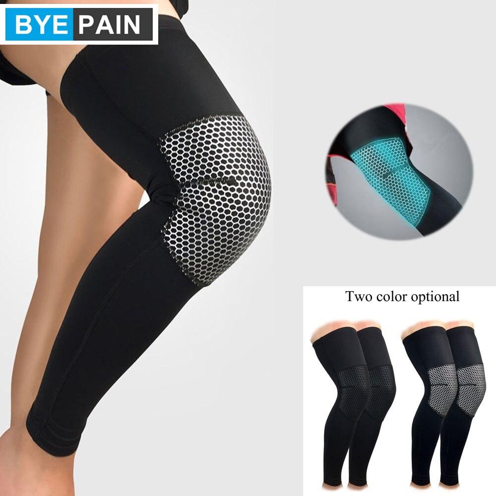 1Pcs BYEPAIN Compression Leg Sleeves for Men, Women - Full Length Stretch Long Sleeve with Knee Support, Non-Slip Inner Bands
