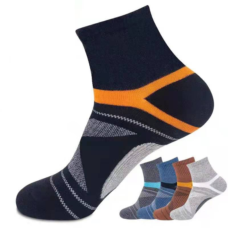 2021 Spring High Quality 5Pairs /Lot Combed Cotton Men's Socks New Casual Breathable Active Socks Man Stripe Long Sock EUR 38-44