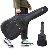 600D Waterproof Guitar Case Double Strap Padded Black Guitar Case Backpack Shoulder Strap Classical Guitar Bag for 40\
