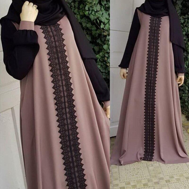 Umeko Moda Vestido Dos Muçulmanos das Mulheres Roupas Soltas Elegante Simples Dubai Abaya Peru Vestido Roupas Islão Hijab Vestidos Musulman