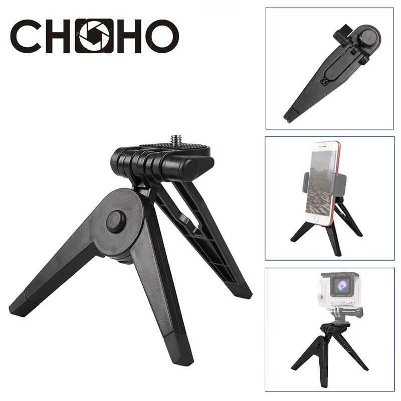 Mini trípode ligero soporte de mesa plegable trípode ABS soporte de teléfono Vlog Selfie Stick para cámara teléfono móvil iPhone Gopro Accesorios