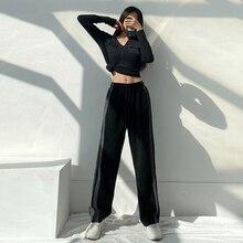 Fried Street American Straight Sports Pants Female Loose Ins Trendy Slimming Versatile High Waist Wi