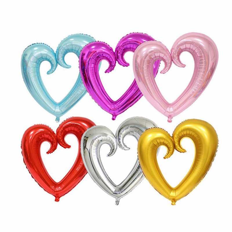 40 pulgadas hueco grande globos de aluminio con forma de corazón decoración de la boda de helio globo de Día de San Valentín corazón rojo fiesta globos