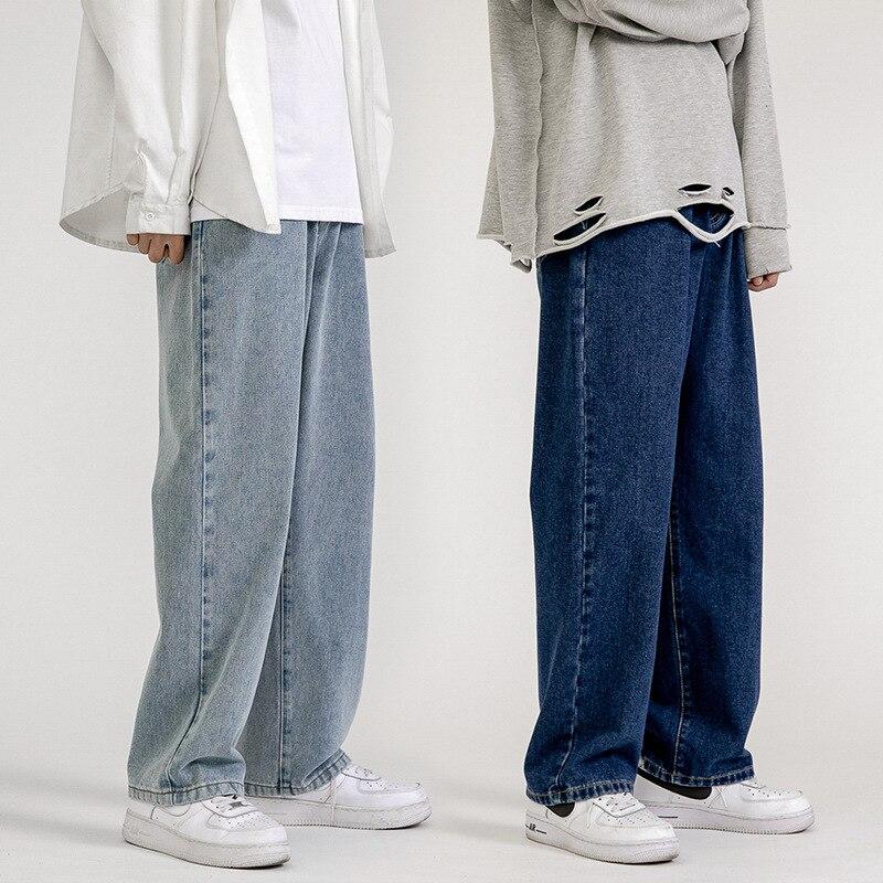 Мужские джинсы, модные свободные прямые повседневные широкие брюки, ковбойская Мужская Уличная одежда, мужские джинсы, Мужская одежда, мешк...