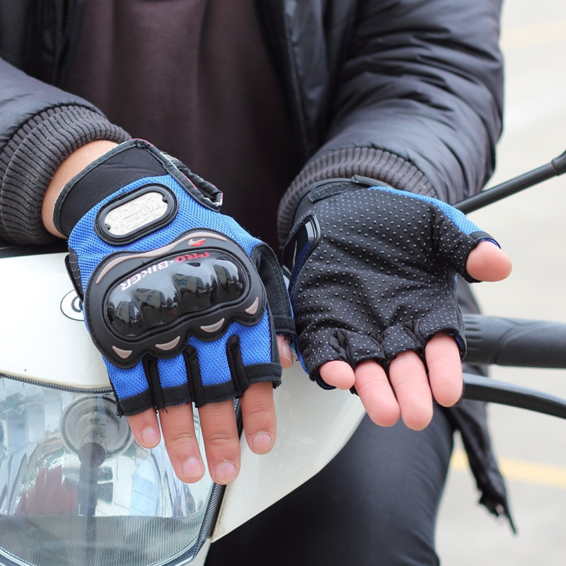 1 Pair Motorcycle Gloves For Men Women Moto Glove Racing Riding Gloves Breathable Spring Summer Fingerless Guantes Motocross