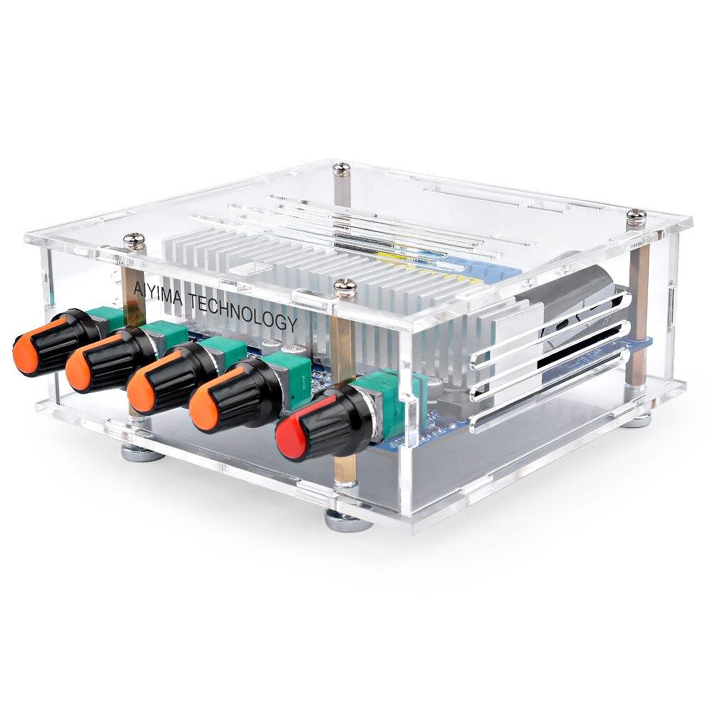 Aiyima tpa3116 50 w * 2 + 100 bluetooth amplificador de potência digital montado placa tpa3116d2 alta fidelidade 2.1 subwoofer placa baixo com caso