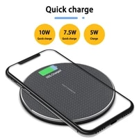 qi metal 10w wireless charger for iphone qc3 0 fast wireless charging for samsung usb charger pad