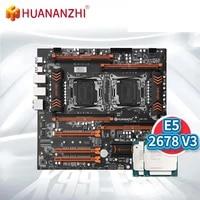 huananzhi x99 f8d motherboard intel dual with intel xeon e5 2678 v32 combo kit set support ddr4 ecc m 2 nvme ngff usb3 0