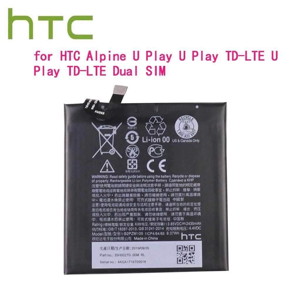 100% alta calidad batería Original B2PZM100 2435mah para HTC Alpine U jugar TD-LTE Dual SIM
