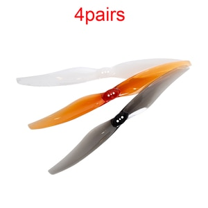 4Pairs 6026 2-blade Propeller 6Inch 3-hole PC Plastic Paddle Forward Reverse Props for RC FPV Racing Toothpick Drone Parts