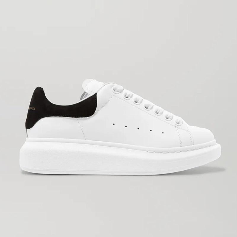 حذاء رياضي نسائي ذو نعل سميك من الجلد حذاء رياضي أبيض غير رسمي حذاء نسائي مسطح برباط علوي حذاء رياضة نسائي