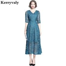 Edle Elegante Frauen Spitze Boho Maxi Kleid Ropa Mujer Verano 2020 Lange Strand Party Kleider Frauen Abendkleid Vestido Longo K6818