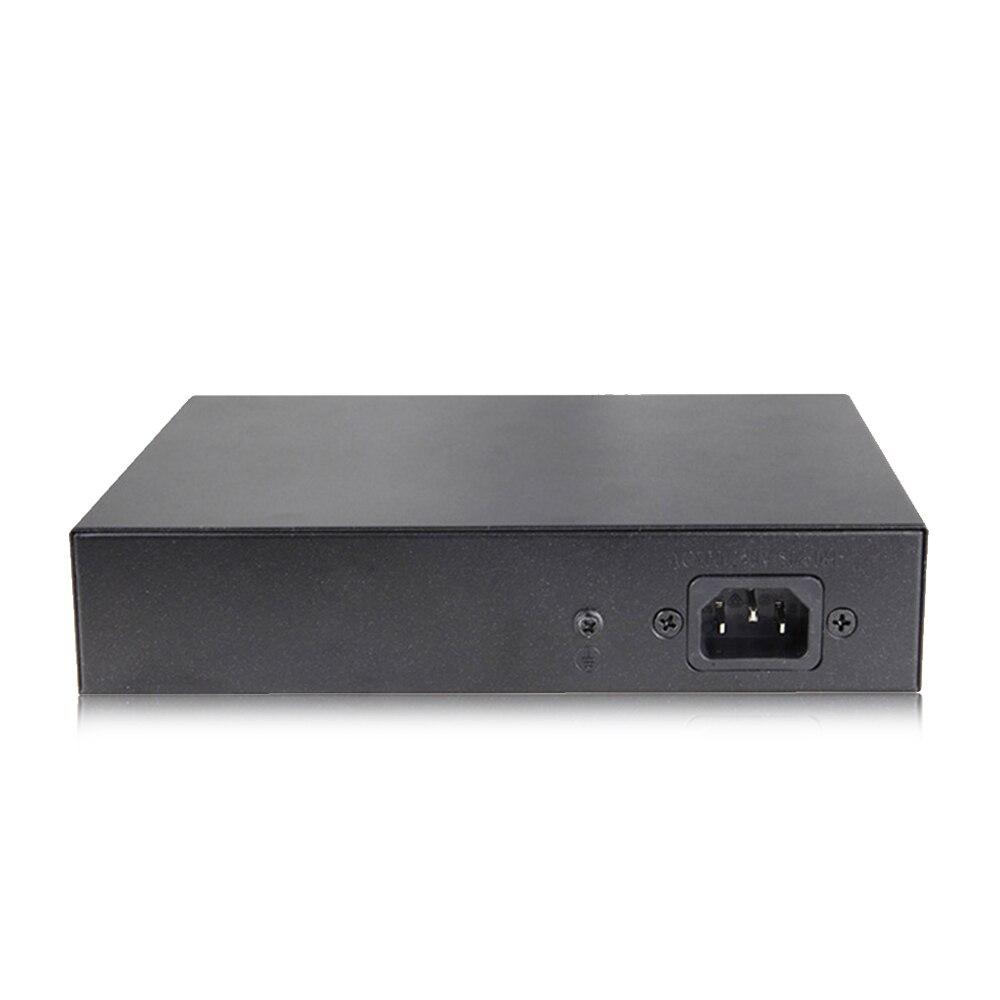Jeatone 250m 4/8/16/24+2-port Extend Ethernet Splitter Switch with 8-Ports PoE+2-Uplink 10/100Mbps for IP camera/ Video intercom enlarge