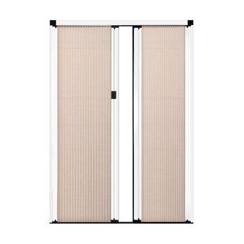 Trackless screen door-honeycomb double opening