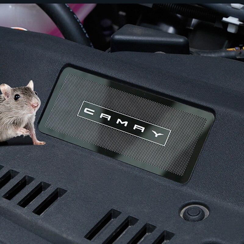 Cubierta de protección de entrada de aire de coche para Camry 2018 2019 2020 accesorios de diseño entrada de aire de capó de coche Red anti-rata e insecto