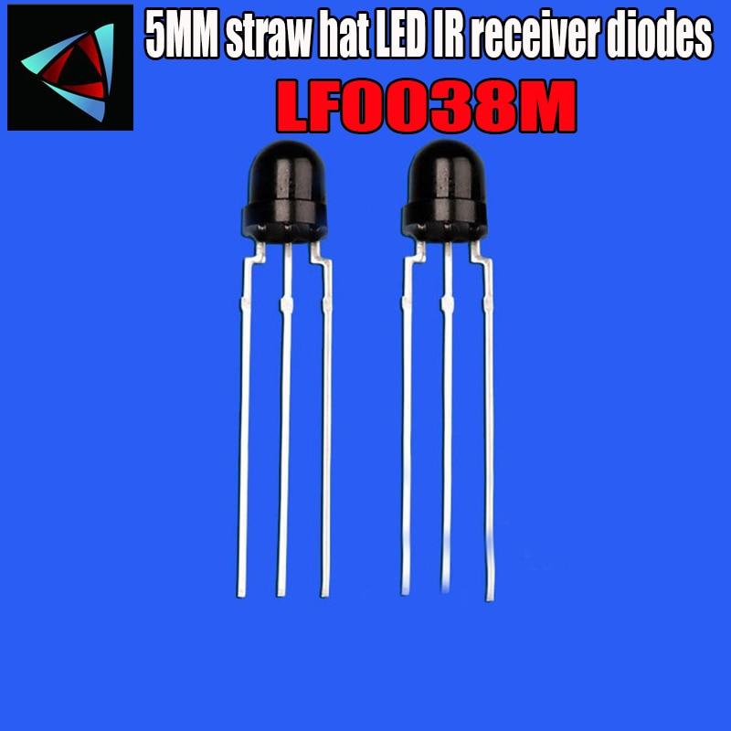10PCS 5mm 4.8MM straw hat LF0038M 940nm 850NM LEDs IR receiver diodes