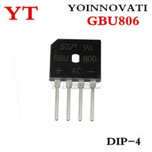 10 pièces/lot GBU806 GBU 806 DIP-4 IC meilleure qualité