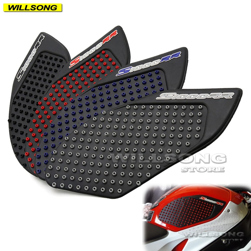 Silica Gel Anti Slip Sticker Tank Pad Side Knee Grip Protector For BMW S1000RR S1000R HP4 Motorcycle Accessories