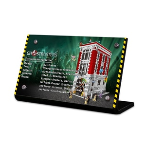 Acrylic Display Stand Brand for 75827 Ghostbusters Firehouse Headquarters Building Blocks