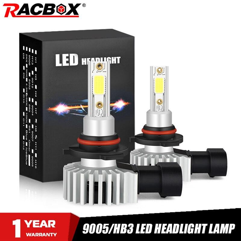 9005 HB3 Led Bulb 72W Car Headlight Bulbs 10000LM Mini Headlights Kit Auto Headlamp Automobile Fog Lights 3000K 6500K 1000K