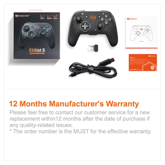 BIGBIG WON Elitist S Wireless Gamepad Controller Joystick for Nintendo Switch PC Android Game Console with 6-Axis Gyro Handle 10