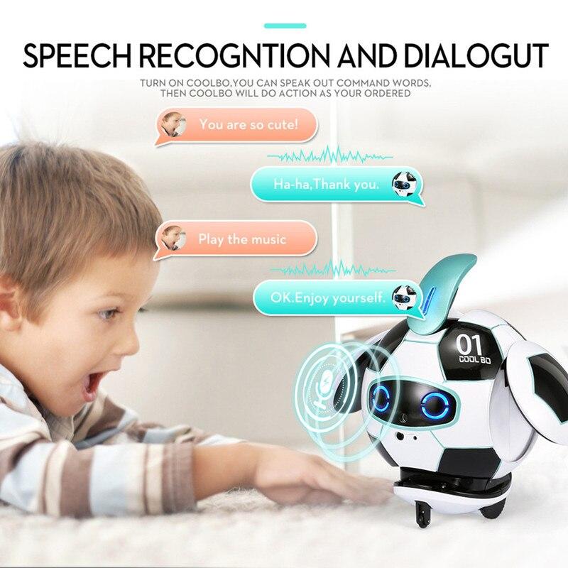 Robot inteligente con Control de gestos, juguete inteligente de fútbol, robot con reconocimiento de voz, Control táctil, canto, baile, música, juego, robot de juguete