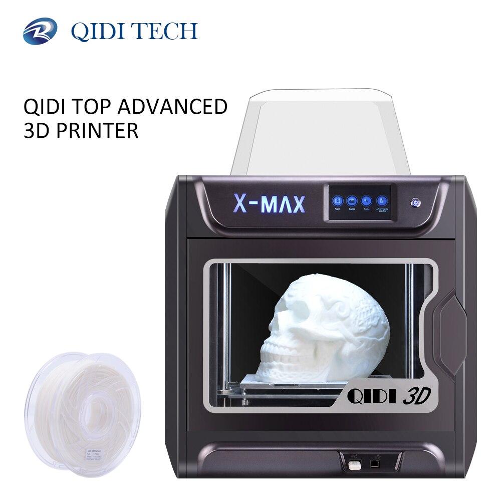Qidi tech 3d impressora X-MAX grande tamanho industrial wifi alta precisão impressão com pla tpu pc petg náilon 300*250*300mm