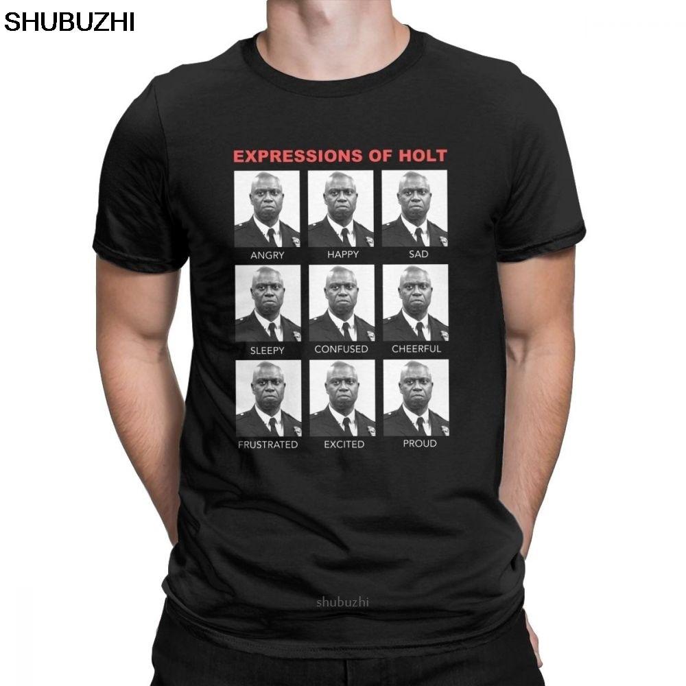 Camisetas de manga corta para hombres de Brooklyn Nine Brooklyn 99 camisetas de algodón cuello redondo Camiseta sbz8457