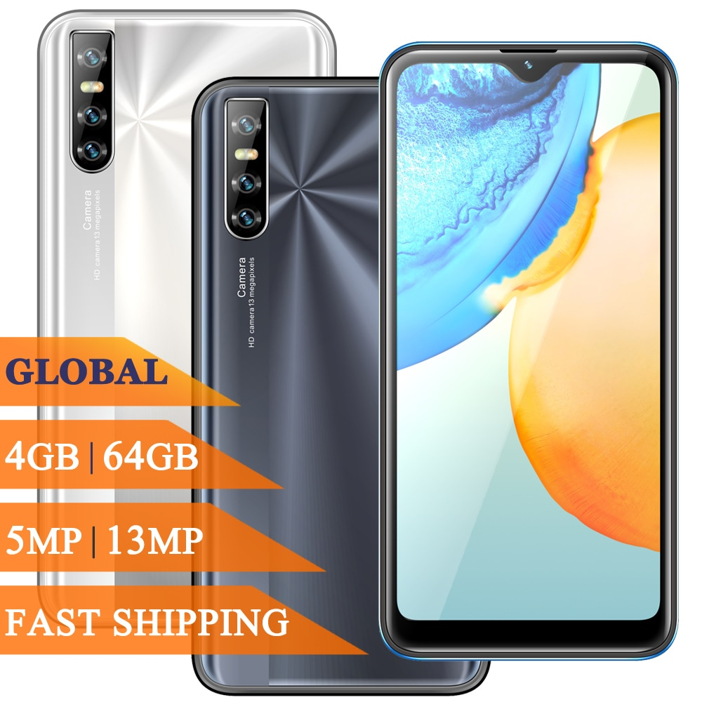 Note 9 Pro 4G RAM 64G ROM 6.26inch Face ID Recognition Smartphones Water Drop Screen Unlocked Android Mobile Phones Cell Phones