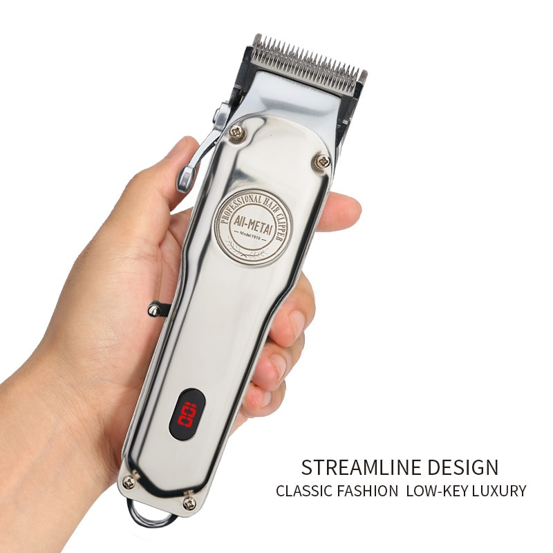All-Metal Barber Hair Clipper Professional Electric Hair Trimmer Men Cordless Hair Cutter Machine Hair Cut Magic Rechargeable enlarge