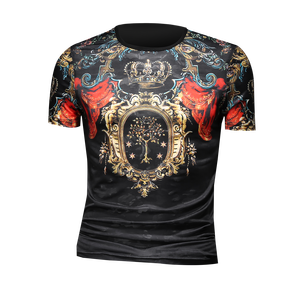 Luxury Retro Print T Shirt Men Short Sleeve Streetwear Casual T-Shirt 2021 Summer O-neck Tops Tees Men Clothes Soft Comfort
